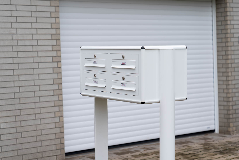 Briefkastenanlage - weiß
