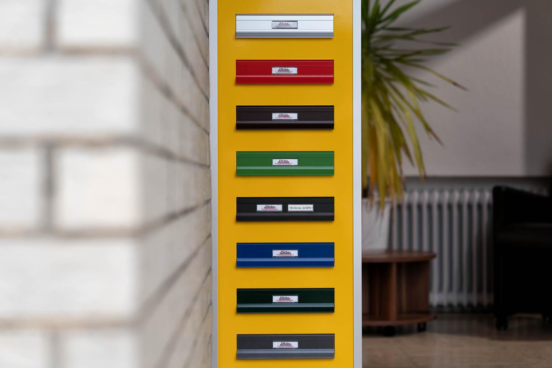 Briefkastenanlagen - Farbmuster