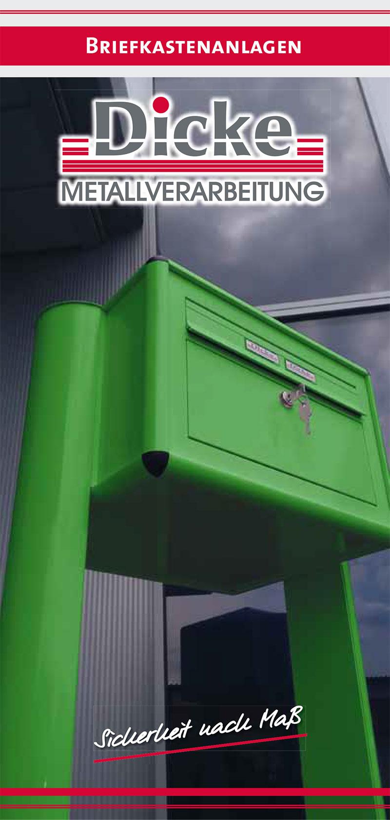 Dicke Metallverarbeitung - Briefkastenanlagen