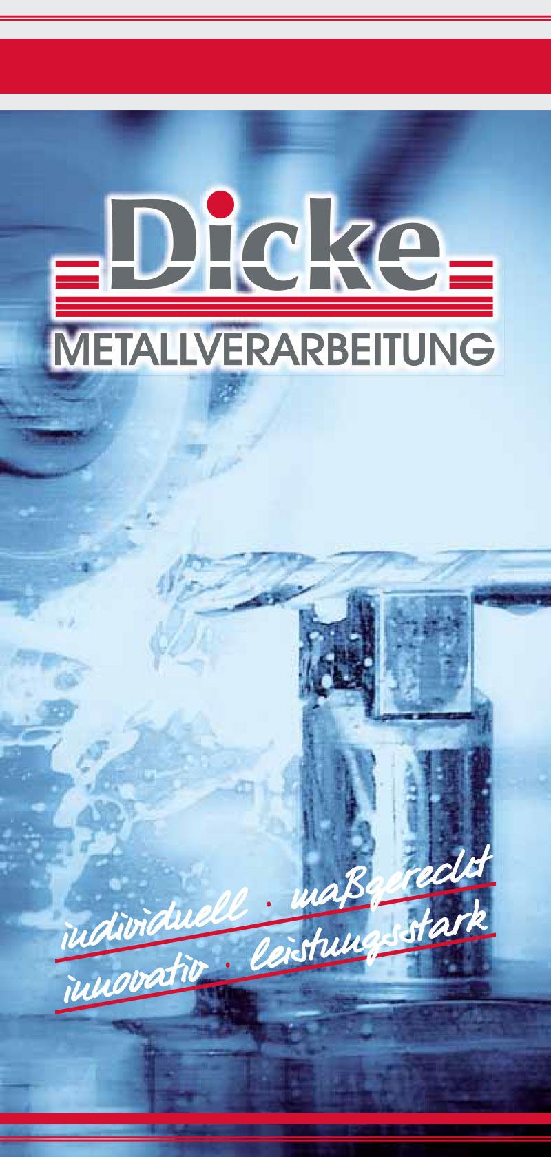 Dicke Metallverarbeitung - Imagebroschüre